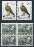 1952-1983 1848-as szabadságharcosok 50f négyestömb 12:12 fogazással + Madarak X. 6Ft színárnyalat támpéldánnyal