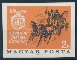 1966 Évfordulók - események IV. 2Ft soproni önkéntes tűzoltóság vágott bélyeg