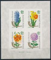 1963 Bélyegnap - Virág II. vágott blokk (6.000)