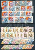 Románia 1964 3 klf sor fogazott és vágott változatban, A/4-es berakólapon