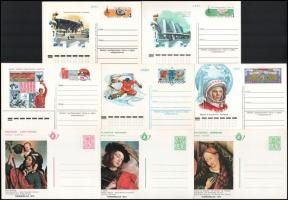 8 db használatlan díjjegyes levelezőlap, 3 db belga + 5 db szovjet