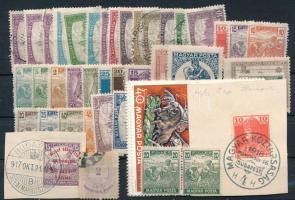 Kis tétel, főleg régi bélyegek kis berakó lapon