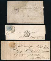 2 magyar és 1 olasz régi levél
