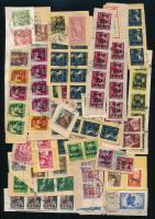4 db megcímzett de el nem küldött küldemény + főleg II. inflációs levélkivágások műanyag tokban