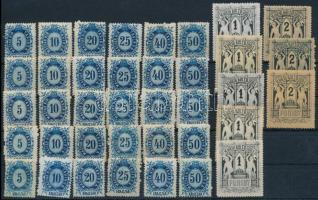1874 Távírda réznyomat összeállítás sorokkal, színváltozatokk (~24.000)