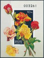 1982 Rózsák vágott blokk (8.000)