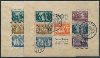 1938 Szent István 2 db blokk (12.000)