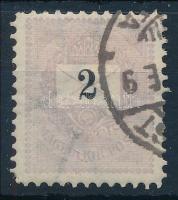 1889 Feketeszámú 2kr bélyeg 11 1/2 fogazással (15.000)