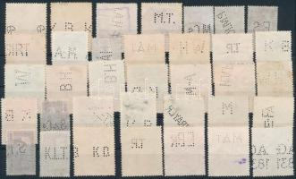 35 db céglyukasztásos bélyeg