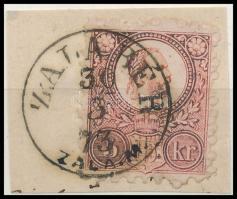 1871 Réznyomat 5kr levéldarabon ZALABÉR / ZALA M.