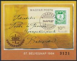 1984 Bélyegnap (57.) vágott blokk (3.500)
