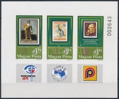 1984 Bélyegkiállítások (I.) vágott blokk (3.500)