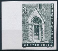 1972 Műemlékvédelem vágott ívszéli bélyeg