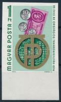 1974 Az OTP 25. évfordulója vágott ívszéli bélyeg