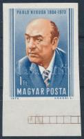 1974 Pablo Neruda vágott ívszéli bélyeg