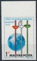 1975 Vívó világbajnokság II. vágott ívszéli bélyeg