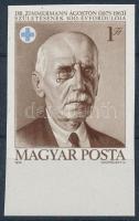 1975 Dr. Zimmermann Ágoston vágott ívszéli bélyeg
