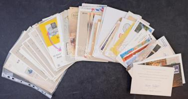 200 db FDC, levél, emléklap, cipősdobozban