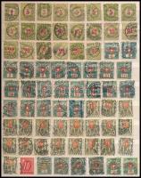 Svájc 72 db portóbélyeg A/4-es berakólapon