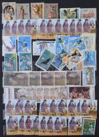 Ausztrália tétel többletpéldányokkal, sok száz javarészt képes bélyeg 8 lapos A4-es berakóban