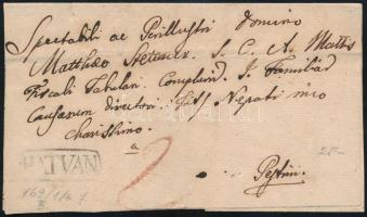 1821 Portós levél / Unpaid cover HATVAN - Pest
