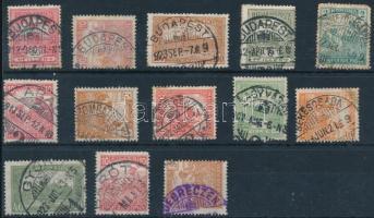 13 db Arató és Turul bélyeg stecklapon