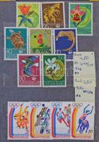 Liechtenstein, Luxemburg, Csehszlovákia 1963-1970 kis gyűjtemény sok motívummal, blokkokkal, kevés pecsételt értékkel, 6 lapos zsebberakóban