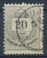 1874 20kr 11 1/2 fogazással / perforation