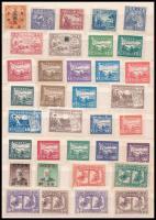 Kína 73 db bélyeg, köztük Észak-Kína, Közép-Kína stb. területek is, közepes berakólap mindkét oldalán