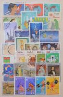 Kuba 1970-1990 460 db bélyeg sok motívummal, 8 lapos, közepes berakóban