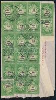 1946 20 x 20 ezer adópengő bérmentesítésű levél Svájcba
