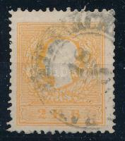 1858 2kr narancs, szép színárnyalat / orange (BAN.)WEISKIRCH(EN)
