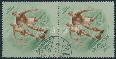 1953 Népstadion 2Ft pár vízjel nélkül (katalógus nem említi!) / Mi 1327 pair without watermark (not listed in the calatog)
