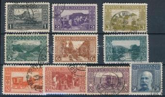 1906 10 db bélyeg speciális fogazással/ 10 stamps with special perforation