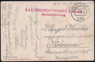 1918 Tábori posta képeslap / Field postcard K.u.k. Heeresgruppenkommando F.M. Boroevin + FP 239