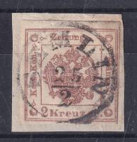 1858 Hírlapilletékbélyeg / Newspaper duty stamp SEMLIN