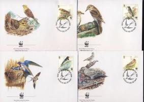 2000 WWF: Énekesmadarak 4 db FDC Mi 860-863
