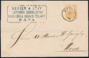 1871 Kőnyomat 2kr levélen / Mi 2 on cover PÁPA - Wien