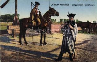 Hungarian folklore, mounted horse-herdsman, Magyar folklór, csikósok