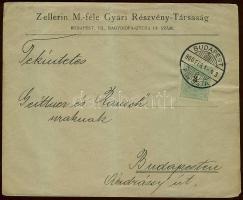 1900 3kr helyi levélen BUDAPEST