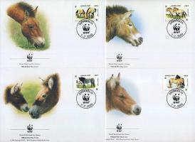2000 WWF Lovak sor 4 FDC-n Mi 3122-3125