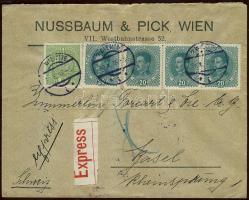 1918 Expressz levél Svájcba / Express cover to Switzerland