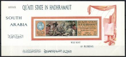 1967 Festmények vágott blokk Mi 15B
