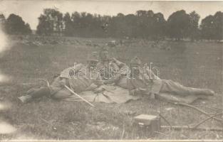 Military WWI Resting soldiers photo, Katonaság I. világháború, pihenő katonák fotó