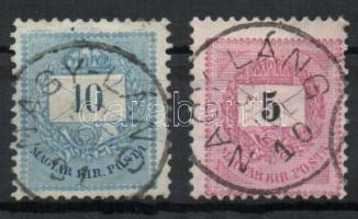 1881-1889 2 klf bélyeg NAGY-LÁNG