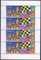 2003 Sakk Mi 1720-1721 4 sort tartalmazó kisív