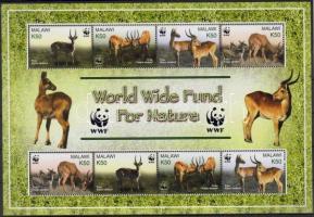 2003 WWF Állatok Mi 721-724 2 sort tartalmazó ív
