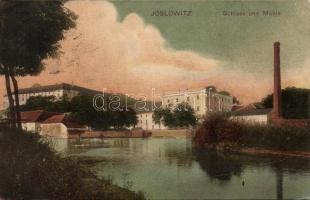 Jaroslavice, Joslowitz; Schloss, Mühle / catsle, mill