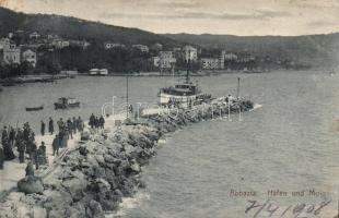 Abbázia, port and molo, Abbázia, kikötő, móló