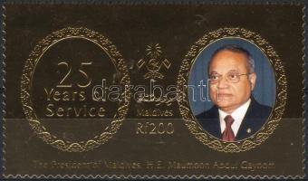 2003 Az államfő hivatalba lépésének 25. évfordulója Mi 4170 aranyfóliás bélyeg